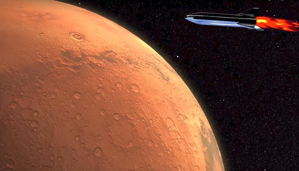 Ракета на орбита Марса