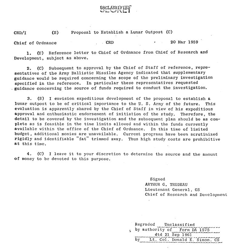 документы США, освоение Луны
